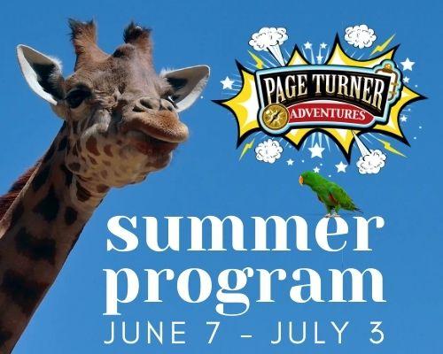 Page Turner Adventures summer program June 7 through July 3