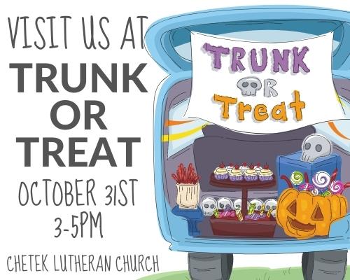 Visit us at Trunk or Treat